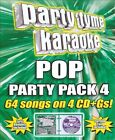 Party Tyme Karaoke - Pop Party Pack 4 / 64 Songs On 4 Cd+Gs