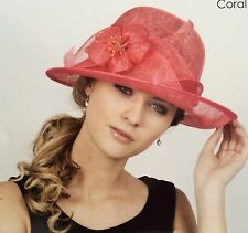 New Woman Church Derby Wedding Sinamay Ascot Dress Hat Various Colors DR-04
