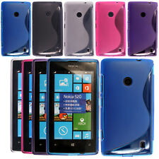 S-Line Silicone TPU Gel Cover Case For Nokia Lumia Phones Free Screen Protector