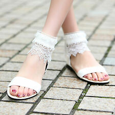 100 PCS Sweet Girl's Falts Summer Beach Sandals Slippers Ankle Strap wholesale