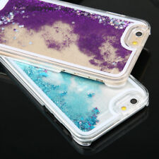 Flowable Liquid Glitter Stars Quicksand Clear Cover Case For iPhone For Samsung