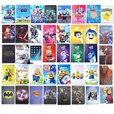 For iPad Smart Leather Cover Case Stand spiderman superman Batman frozen hero