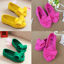 New Girls toddler Baby Dress Soft Princess Candy Shoes Flats Color Bow Loafer
