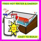 NEW,SOLAR HOT WATER HEATER PLANS=FREE`HOT WATER FOREVER