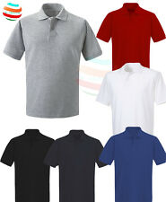 Mens Short sleeve PLAIN POLO  SHIRT in S M L XL White grey blue black red. lot