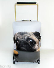 PUG WITH BISCUIT DESIGN CASESKINZ SUITCASE COVER *SUITCASE NOT INCLUDED*