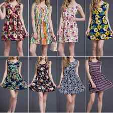 Sexy Womens Chiffon Casual Evening Party Short Mini Dress Beach Floral Dress E80