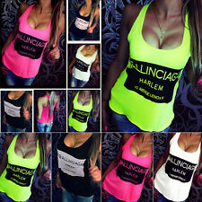 SEXY Women Summer Casual Cotton Sleeveless Shirt Vest Ladies Tank Top Blouse