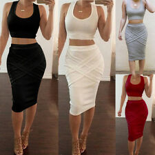 Sexy Women Sleeveless Bandage Bodycon Pencil Evening Cocktail Party Club Dress