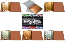 10x 24k Gold on Base Sheets + Pure .999 Edible Silver Leaf For Arts Crafts Cakes