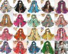 Hot Fashion Long Cotton Voile Floral Shawl Scarf Wrap Stole For Girls/Lady
