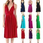 Sexy Womens Bridesmaid Convertible Evening Party Multi Way Sleeveless Long Dress