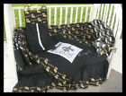 New baby Crib Bedding Set m/w NEW ORLEANS SAINTS fabric