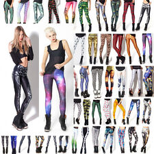 Sexy Damen 3D Print Tight Lange Leggings Jeggings Stretchy dünne Bleistift-Hosen