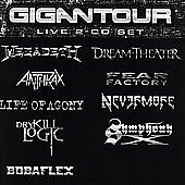2 CDS - GIGANTOUR - ANTHRAX, MEGADETH, , LIFE OF AGONY, DREAM THEATER, DRY KILL