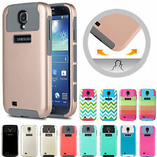 For Samsung Galaxy S4 i9500 Hybrid Shockproof Hard Rugged Heavy Duty Cover Case