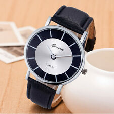 New Geneva Womens Watch Retro Leather Analog Quartz Wrist Watch Chiristmas Gift