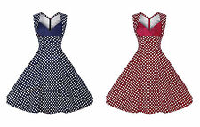 NEW FASHION VINTAGE 50'S 60'S ROCKABILLY RETRO OFFICE FIT A- DRESS [6 sizes]