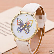 Geneva Luxury Women Watches Butterfly Leather Girls Fashion Quartz Wrist Watch