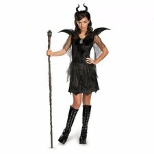 Tween Teen Jr Deluxe Maleficent Costume Christening Black Gown Dress
