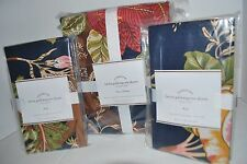 NIP POTTERY BARN LAINA PALAMPORE DUVET COVER & SHAM NAVY BLUE PRINT QUEEN KING