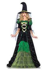 Sexy Storybook Witch Deluxe Outfit Women's Adult Halloween Fancy Costume New