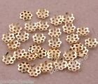 Free Shipping 1000 pcs Gold Plated spacers flower beads caps findings 6mm