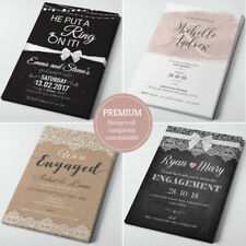 Personalised Engagement Invitations • Engagement Party Invites With Envelopes •