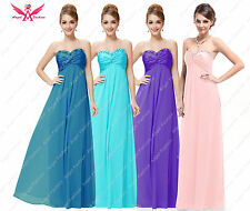 Strapless Sweethart Ruffles  Beads  Evening/Party/Wedding Bridesmaid Dress 6-24