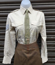 BRITISH ARMY MUJER BEIGE MODA POLIALGODÓN MANGA LARGA CAMISA-GOODWOOD,W&P