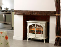 DIMPLEX CHEVALIER CHV20 WHITE ELECTRIC STOVE OPTIFLAME EFFECT FIRE