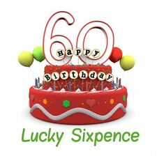 60th Birthday Lucky Sixpence Gift, Great good luck present idea for man or woman