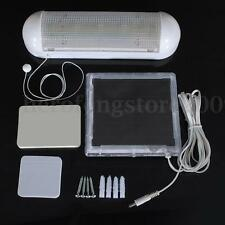 5 LED Solar Power Panel Indoor Outdoor Garden Fence Wall Lamp Shed Flood Light