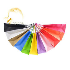Lot 50PCS Small Kraft Paper Gift Bags with Handle Shopping Party Supplies Custom
