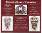 1982 NEBRASKA CORNHUSKERS BIG 8 CHAMPIONS RING PHOTO