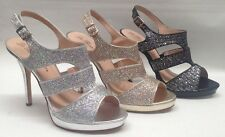 NEW Womens Blossom Kimi25 Glitter Rhinestone WEDDING PAGEANT Strappy Dress Shoes