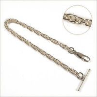 New Silver Colour  Albert Pocket  Watch Chain  17O