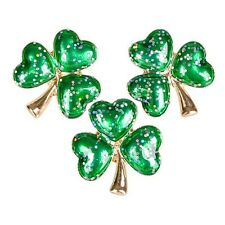 WHOLESALE - 3 IRISH SHAMROCK PINS Ireland St Patricks Day brooch lapel clover