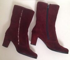 Stunning Suede Vintage Boot Fur Lined 5.5