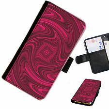 Modello Red Swirl swi05 DS Leather Wallet / FLIP PHONE Custodia COVER per tutti i modelli