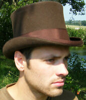 New Top Hat Brown Quality English Gentleman's Sizes S M L XL