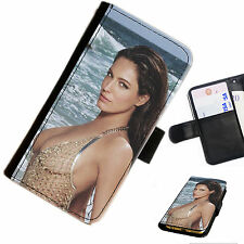KB03 Kelly Brook boobs Printed leather flip/wallet PU Phone Case all models