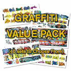 HO or N Scale Graffiti Decals Value Pack-40% DISCOUNT