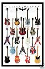"GUITARS POSTER ""SLASH, DIMEBAG DARRELL, METALLICA, HENDRIX"" LICENSED ""BRAND NEW"""