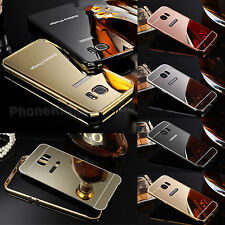 Ultra Thin Aluminium Bumper Mirror Back Case Cover For Samsung Galaxy Models