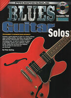 PROGRESSIVE BLUES GUITAR SOLOS - LEARN TO PLAY MUSIC BOOK AND CD - INCLUDES TAB