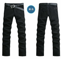 HOT Men's Stylish Slim Fit Skinny Pencil Trousers Straight Cotton Casual Pants