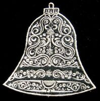 Lace Ivory on Black Christmas Story Decoration 7, Tree Wall Window Hanger