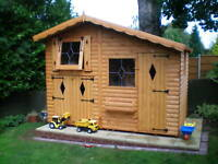10ft x 6ft children's upstairs wooden play house