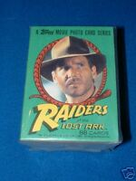 TOPPS INDIANA JONES RAIDERS O/T LOST ARK TRADING CARDS + UNOPENED WAX PACK